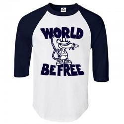 """Rat"" Limited Baseball Shirt - WHITE/NAVY BLUE"