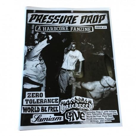 PRESSURE DROP zine / flexi ep - ISSUE 1 - Red