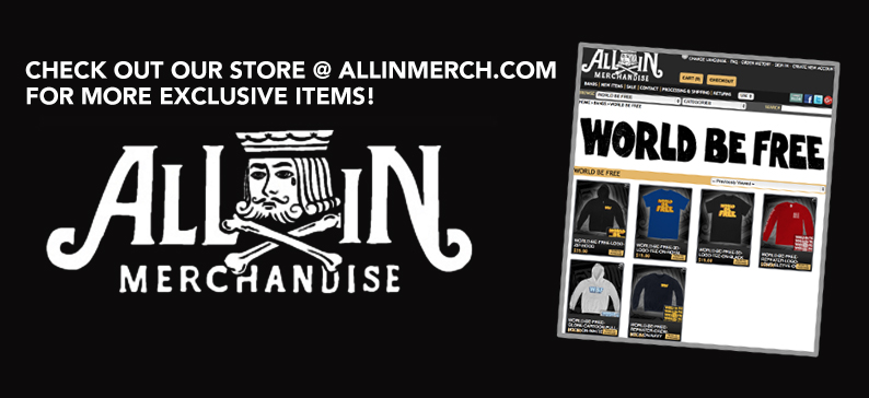 WORLD BE FREE store at ALLINMERCH.COM
